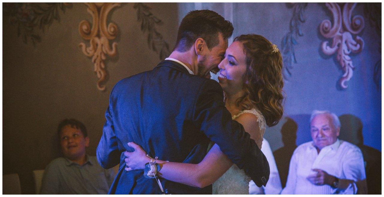 Matrimonio a Villa Canton Bergamo: il ballo degli sposi