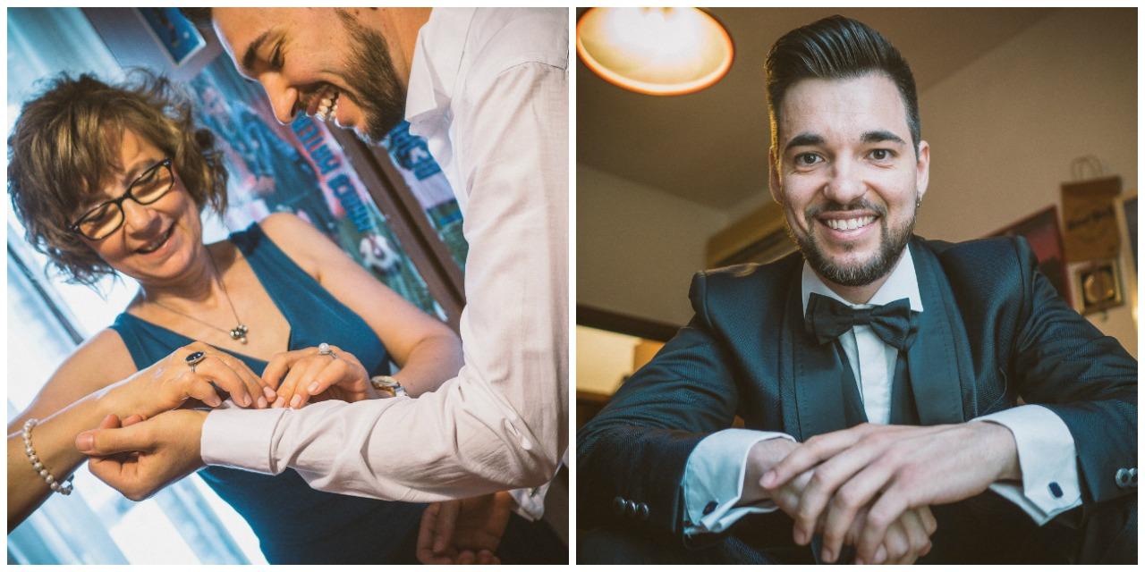 Matrimonio a Villa Canton Bergamo: preparazione dello sposo